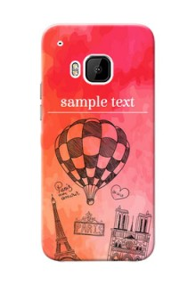 HTC Desire One M9 abstract painting with paris theme Design