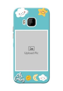 HTC Desire One M9 kids frame with smileys and stars Design