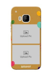 HTC Desire One M9 2 image holder with birthday celebrations Design