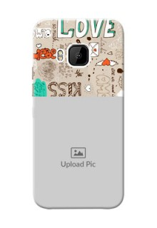HTC Desire One M9 love doodle  pattern design Design Design