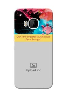 HTC Desire One M9 best friends quote with acrylic painting Design