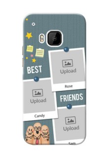 HTC Desire One M9 3 image holder with sticky frames and friendship day wishes Design