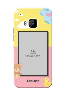 HTC Desire One M9 kids frame with 2 colour design with toys Design