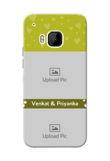 HTC Desire One M9 you and me design with hanging hearts Design