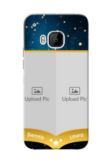 HTC Desire One M9 2 image holder with galaxy backdrop and stars  Design
