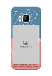 HTC Desire One M9 2 colour backdrop with music theme Design Design