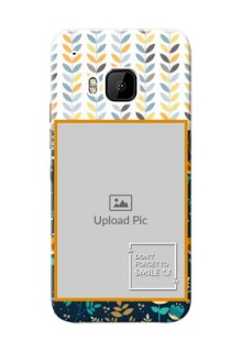 HTC Desire One M9 seamless and floral pattern design with smile quote Design