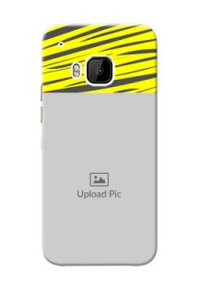 HTC Desire One M9 yellow abstract stripes Design