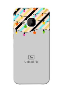 HTC Desire One M9 diagonal stripped pattern with hanging lights Design