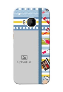 HTC Desire One M9 hand drawn backdrop with makeup icons Design