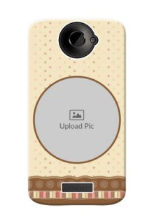 HTC Desire One X+ Brown Abstract Mobile Case Design