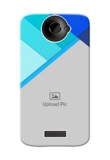 HTC Desire One X+ Blue Abstract Mobile Cover Design