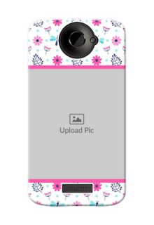 HTC Desire One X+ Colourful Flowers Mobile Cover Design