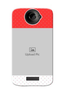 HTC Desire One X+ Red Pattern Mobile Case Design
