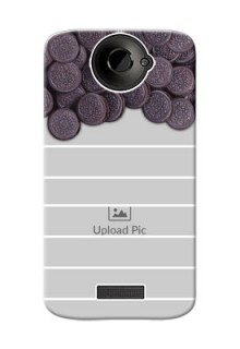 HTC Desire One X+ oreo biscuit pattern with white stripes Design Design