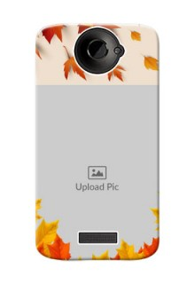 HTC Desire One X+ autumn maple leaves backdrop Design