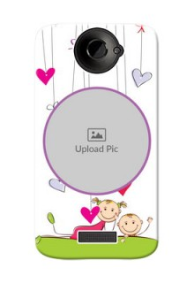 HTC Desire One X Cute Babies Mobile Cover  Design