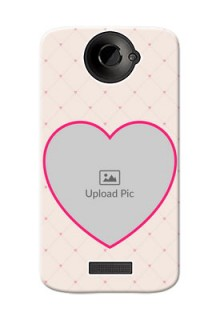 HTC Desire One X Love Symbol Picture Upload Mobile Case Design