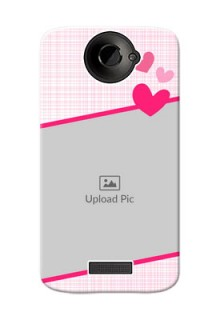 HTC Desire One X Pink Design With Pattern Mobile Cover Design