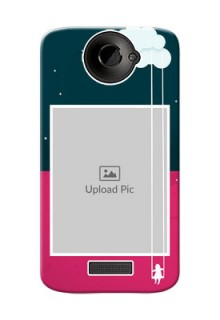 HTC Desire One X Cute Girl Abstract Mobile Case Design