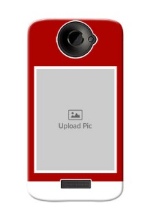 HTC Desire One X Simple Red Colour Mobile Cover  Design