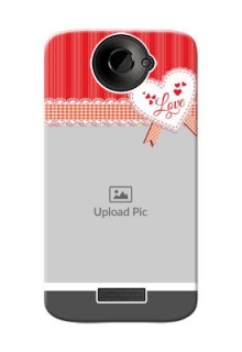 HTC Desire One X Red Pattern Mobile Cover Design