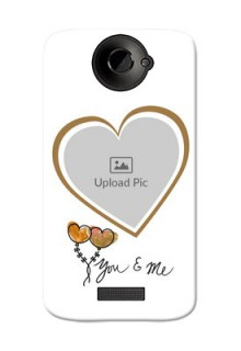 HTC Desire One X You And Me Mobile Back Case Design