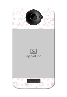 HTC Desire One X Flying Hearts Mobile Back Cover Design