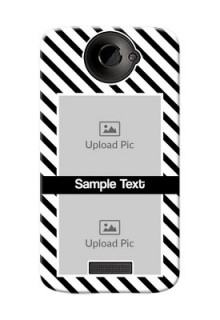 HTC Desire One X 2 image holder with black and white stripes Design