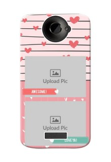 HTC Desire One X 2 image holder with hearts Design