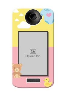 HTC Desire One X kids frame with 2 colour design with toys Design