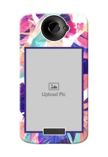 HTC Desire One X abstract floral Design