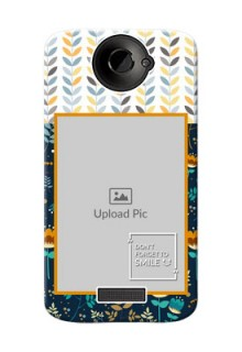 HTC Desire One X seamless and floral pattern design with smile quote Design