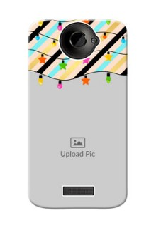 HTC Desire One X diagonal stripped pattern with hanging lights Design Design