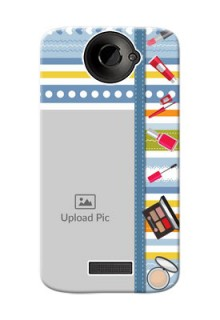 HTC Desire One X hand drawn backdrop with makeup icons Design