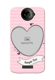 HTC Desire One X seamless stripes with vintage heart shape Design
