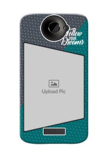 HTC Desire One X 2 colour background with different patterns and dreams quote Design Design