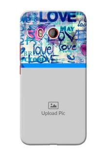 HTC U11 Mobile Covers Online: Colorful Love Design