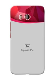 HTC U11 custom mobile back covers: Red Abstract Design