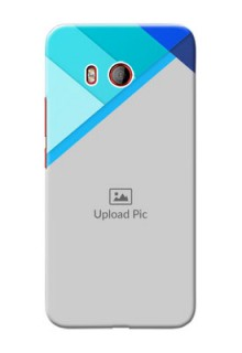 HTC U11 Phone Cases Online: Blue Abstract Cover Design