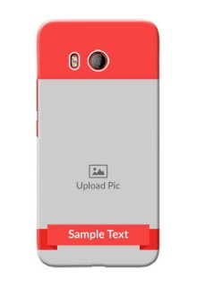 HTC U11 Personalised mobile covers: Simple Red Color Design