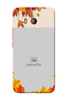 HTC U11 Mobile Phone Cases: Autumn Maple Leaves Design