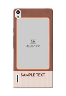 Huawei Ascend P7 Simple Photo Upload Mobile Cover Design