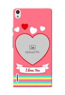 Huawei Ascend P7 I Love You Mobile Cover Design