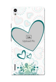 Huawei Ascend P7 Couples Picture Upload Mobile Case Design