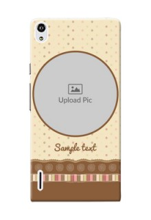 Huawei Ascend P7 Brown Abstract Mobile Case Design