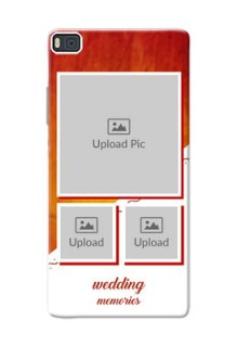 Huawei Ascend P8 Wedding Memories Mobile Cover Design