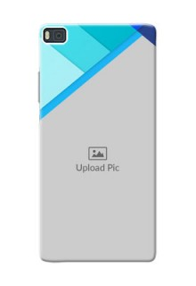 Huawei Ascend P8 Blue Abstract Mobile Cover Design