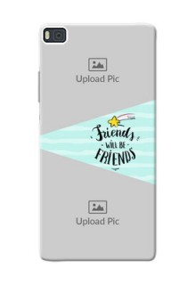 Huawei Ascend P8 2 image holder with friends icon Design
