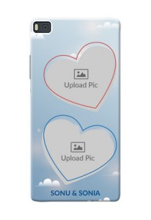Huawei Ascend P8 couple heart frames with sky backdrop Design
